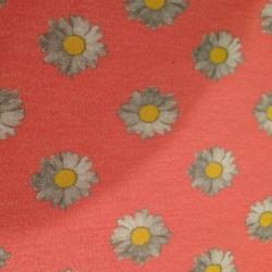 Houtje touwtje sjaal bloem roze