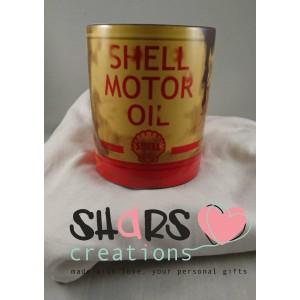 Olieblik mok Shell