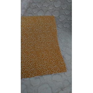 Cadeau papier streepjes op geel
