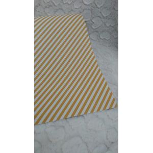 Cadeau papier diagonale streep geel