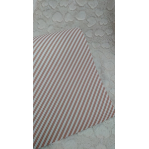 Cadeau papier diagonale streep oud roze