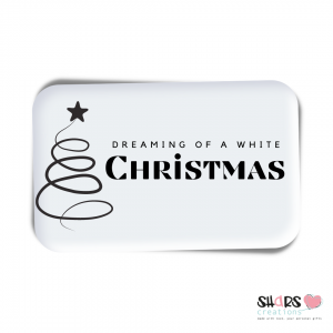 Cadeau sticker set 5 stuks - dreaming of a white christmas